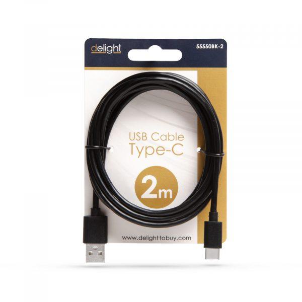 Kabel USB-C - črni - 2m