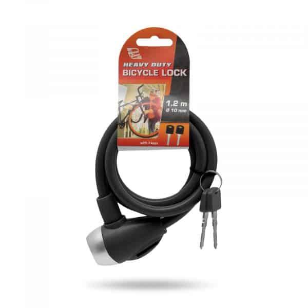 Kabelska ključavnica - 10 mm / 120 cm - črna