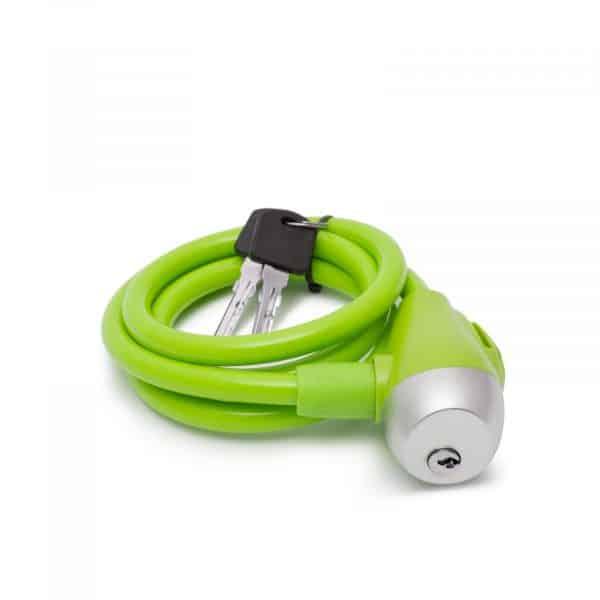 Kabelska ključavnica - 10 mm / 120 cm - zelena