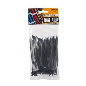 Kabelske vezice - 100 x 2,5 mm - 100 kosov / paket - črne