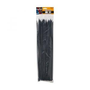 Kabelske vezice - 390 x 4,6 mm - 100 kosov / paket - črne