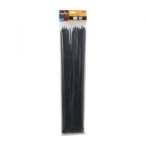 Kabelske vezice - 450 x 4,6 mm - 100 kosov / paket - črne