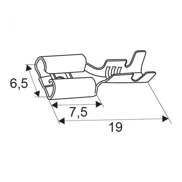 Kabelski čevelj - vtičnica - 6,3mm