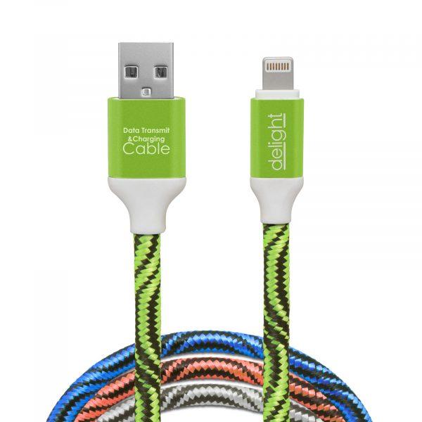 """Kakovosten podatkovni """"lighting"""" kabel za iPhone iPad prevlečen s tkanino več barv"""