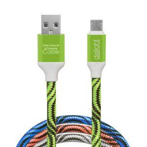 Kakovosten podatkovni micro USB kabel prevlečen s tkanino 2m več barv