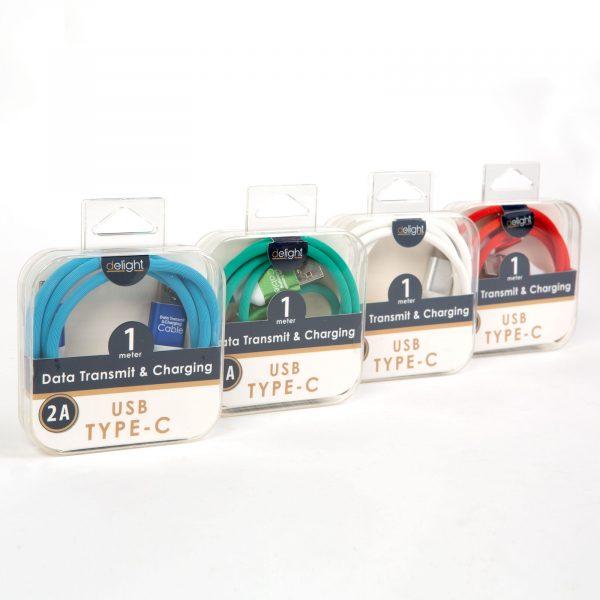 Kakovosten podatkovni USB-C kabel prevlečen s tkanino več barv