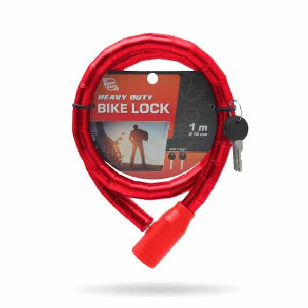 Ključavnica za kolo 18mm 100cm rdeča
