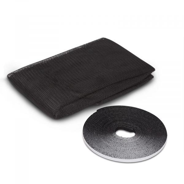 Komarnik za okno - 100 x 100 cm - črna barva