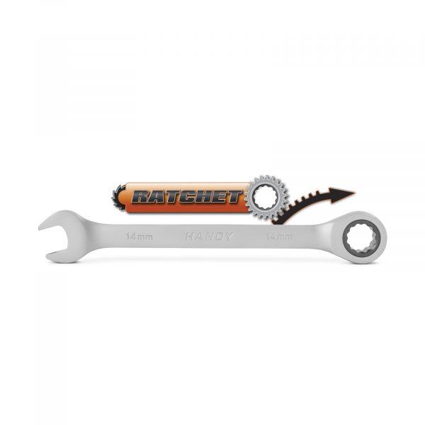 Kombinirani ključ z ragljo - račno - 14 mm