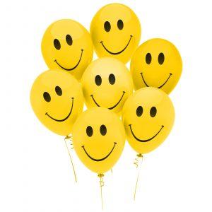 Komplet balonov - Smiley - 12 kosov