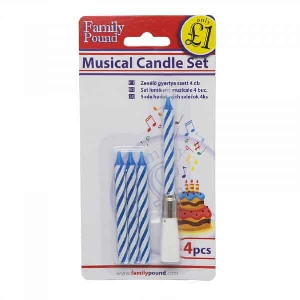 Komplet glasbenih sveč, 4 kosi, 2 barvi