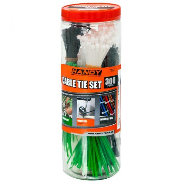 Komplet kabelskih vezic - 300 kosov / paket - barvne