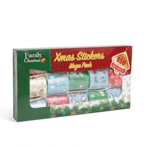 Komplet nalepk za božična darila - 850 kosov - 15 trakov