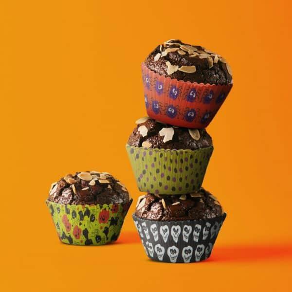 Komplet papirjčkov za muffine - noč čarovnic - 100 kosov / paket