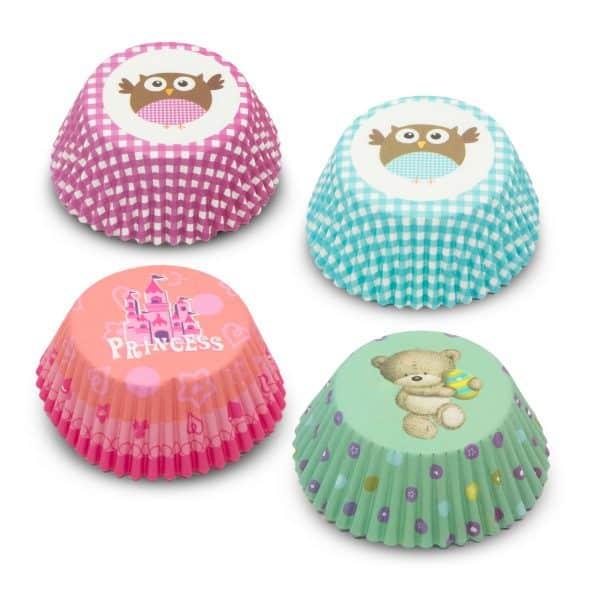 Komplet papirjčkov za muffine - otroški - 100 kosov / paket