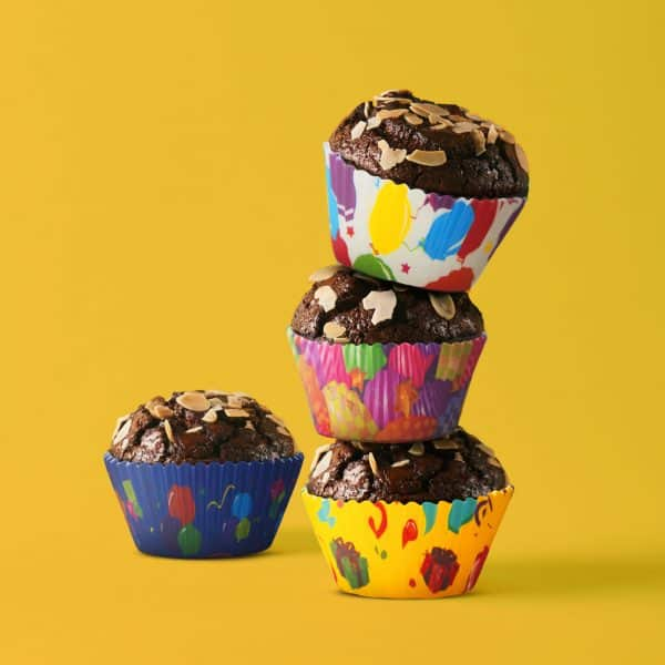 Komplet papirjčkov za muffine - zabava - 100 kosov / paket