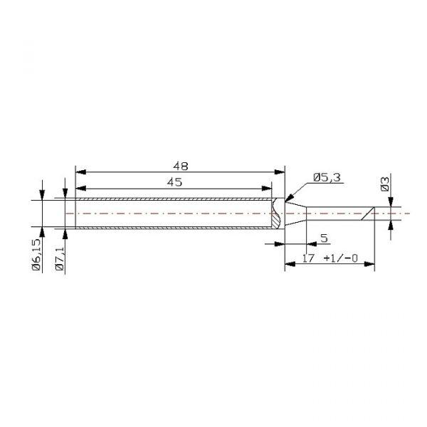 Konica spajkalnika za spajkalnik 28011 - 2 kos / blister