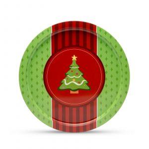 Kovinski pladenj - božično drevo - 31 cm