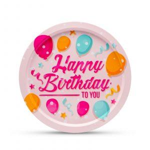 """Kovinski pladenj """""""" Happy Birthday """" - 31 cm"""