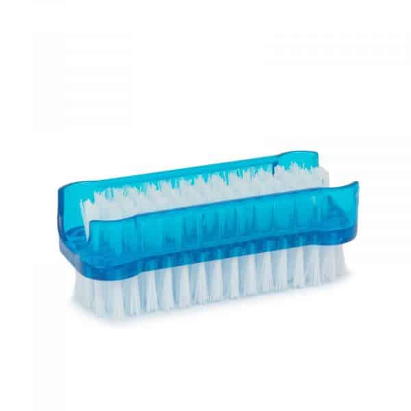 Krtačka za nohte - modra, bela - 2 kos / paket