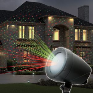 Laserski projektor laser show za dekoracijo s stojalom za zunanjo uporabo z adapterjem