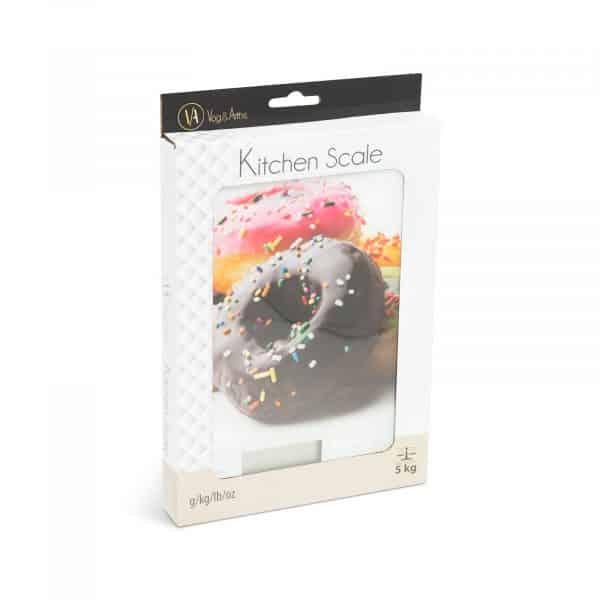 LCD kuhinjska tehtnica - digitalna - donut