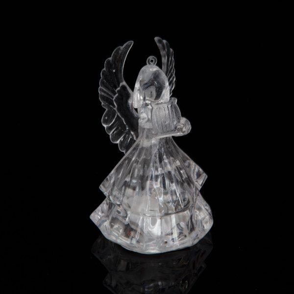 LED akrilni angel z obešalnikom - 4 vrste - RGB - 8,5 x 5 cm
