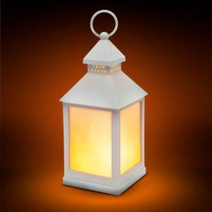 LED baterijska svetilka z učinkom plamena - bela