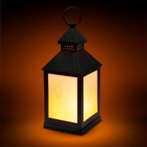 LED baterijska svetilka z učinkom plamena - črna