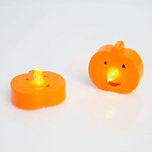 LED čajna svečka - buča - 2 kos / paket