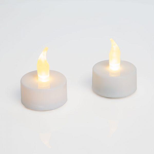 LED čajna svečka z baterijo - 2 kosa