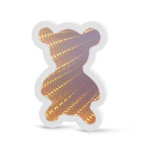 LED čarobno ogledalo - mini - medved - delovanje na baterije
