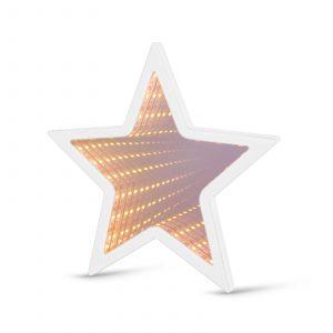 LED čarobno ogledalo - mini - zvezda - delovanje na baterije
