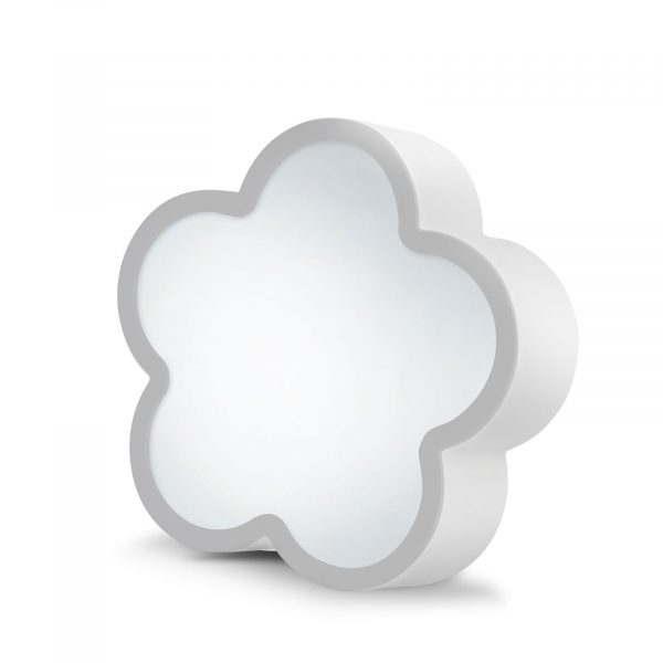 LED čarobno ogledalo - oblika rože