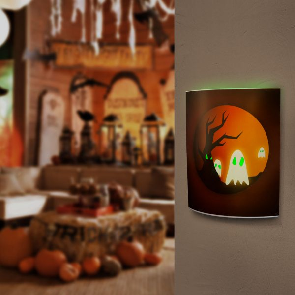 LED dekor mize - noč čarovnic - 15 x 16 cm, 12 kosov