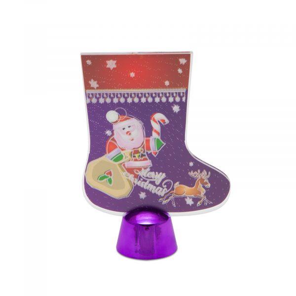 LED dekor za božično mizo - škorenj - 15 cm