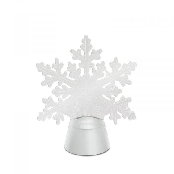 LED dekor za božično mizo - snežinka - 11 cm