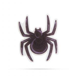 LED dekor za noč čarovnic RGB LED deko - samolepilni - pajek