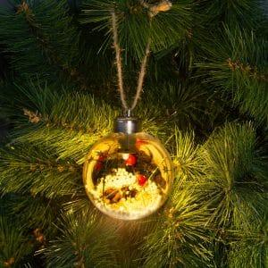 LED dekoracija za božično drevo - toplo bela - 8 cm