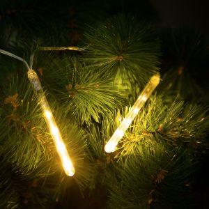 LED ledene sveče meteor na baterije 60 LED 11,5cm toplo bele 3xAA