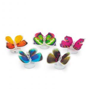 LED metulj, ki spreminja barvo - samolepilni, 5 vrst