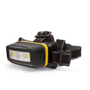 LED naglavna svetila - Li-ion baterija, s senzorjem gibanja - 4 COB LED