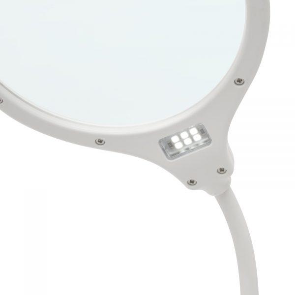 LED namizna akumualtorska micro USB svetilka s povečevalnim steklom in stikalom na dotik