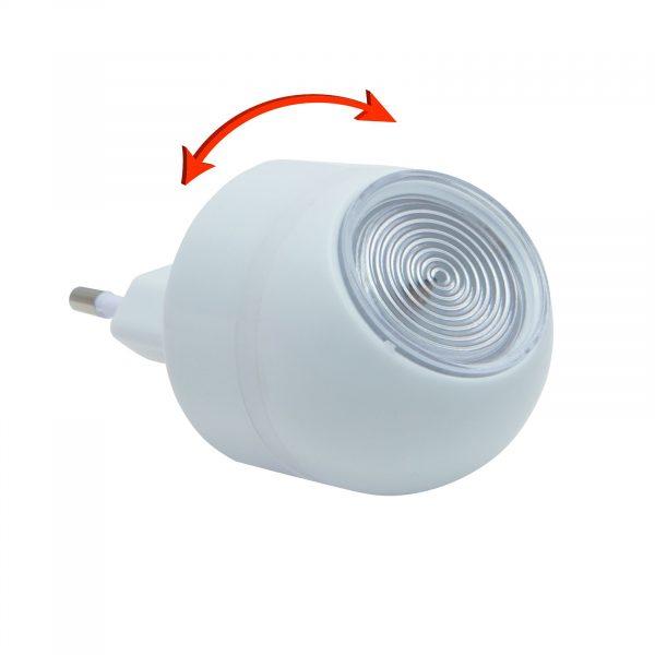 LED nočna svetilka za vtičnico s svetlobnim senzorjem