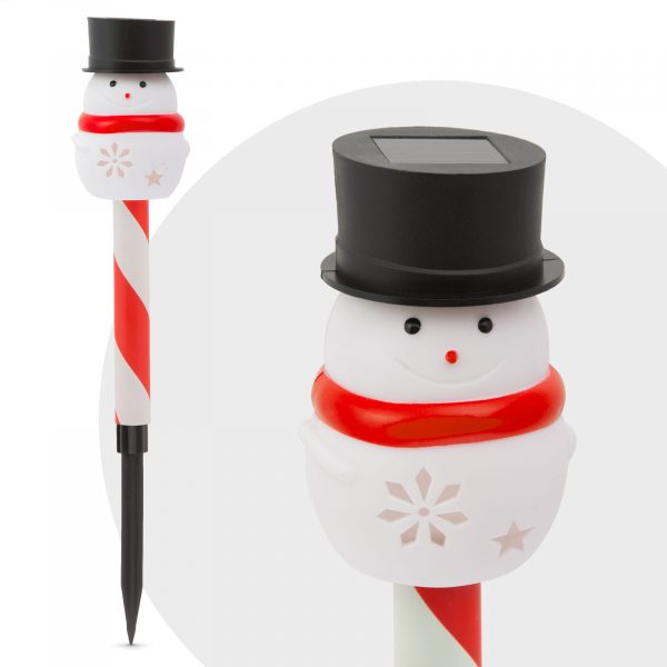 LED solarna svetilka - snežak