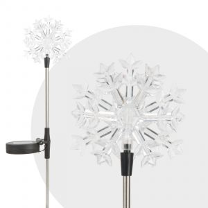 LED solarna svetilka snežinka