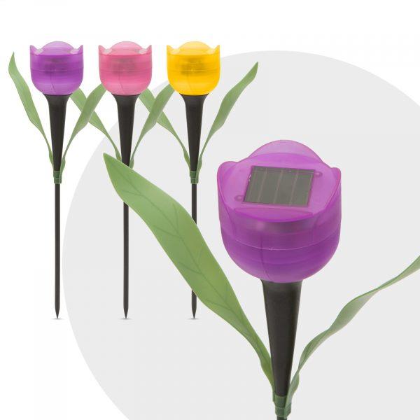 LED solarna svetilka tulipan - 30 cm