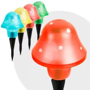 LED solarna svetilka v obliki gobe več barv