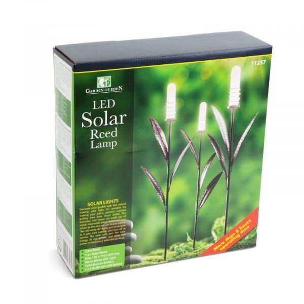 LED solarne svetilke v obliki cvetlic - toplo bela - kovina - 3 kos / paket