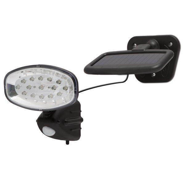 LED solarni reflektor s senzorjem gibanja in solarnim panelom